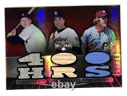 2007 Topps Triple Threads Mickey Mantle Schmidt Piazza /36 jersey bat relic card