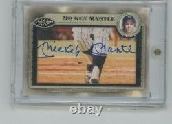 2012 Topps Tier One Baseball Mickey Mantle CUT AUTO #1/1 signed Yankees