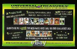 2014 Universal Treasures Chase Box Find 1952 Topps Mickey Mantle 21 Packs