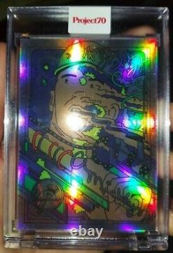 2021 Topps Project 70 Card #157 Mickey Mantle 2021 by Ermsy Rainbow Foil 5/70