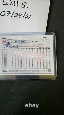 2021 Topps Series 2 Mickey Mantle SSP #52 3 bats Hot