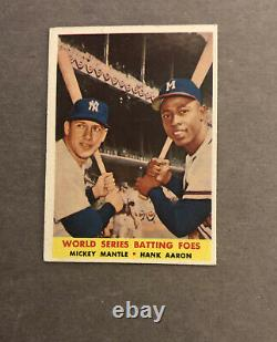 (2) 1958 Topps Baseball Mickey Mantle Cards-#150, #418 (mantle/aaron)