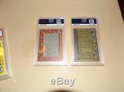 (4). Mantles-(2) 1958-PSA 5 + (1) 1960 PSA 4 + 1961 PSA 5 (Centered)