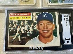 4 ORIGINAL 1956 HOF players plus a very nice MICKEY MANTLE LOT #2