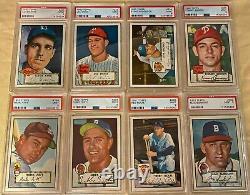 Complete 1952 Topps Baseball Set! #13 on PSA Registry GPA 7+ Mickey Mantle #311