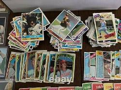Huge vintage baseball card lot 1952-1980 mickey mantle yogi berra reggie jackson