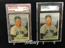 Incredible Mickey Mantle PSA 24-Card Graded Lot 1952 Bowman-1969 Topps Yankees