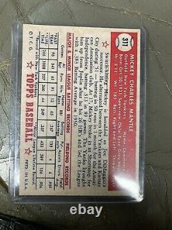 MICKEY MANTLE 1952 Topps Card #311 YANKEES Rookie