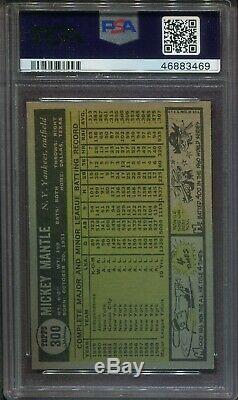 MICKEY MANTLE 1961 Topps Baseball Card #300 Graded PSA 5 EX (#469) Centered