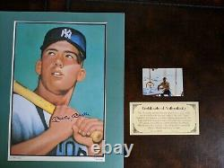 MICKEY MANTLE Iconic 1952 Topps Rookie Card Dvorak Lithograph #124 of 250