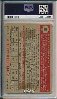 Mickey Mantle 1952 Topps # 311 PSA 1.5 Very Nice Best Card in this Range