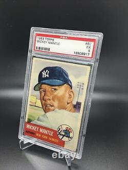 Mickey Mantle 1953 Topps PSA 5 Great Centering and Color