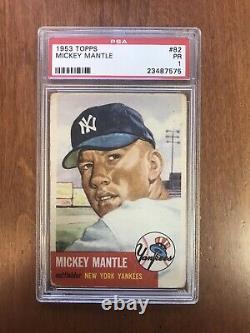 Mickey Mantle 1953 Topps Psa 1! Centered/huge Investment Piece/hofer