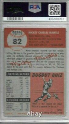 Mickey Mantle 1953 Topps Psa 3! Centered/just Graded/high End Beauty! Hofer