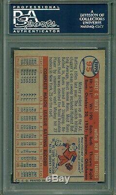Mickey Mantle 1957 Topps #95 PSA 6 Killer Eye Appeal / Snow White Borders