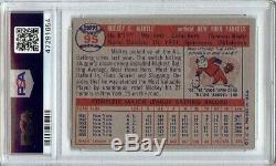 Mickey Mantle 1957 Topps Baseball Card Graded PSA 7 NM New York Yankees #95