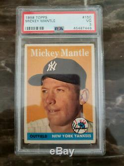 Mickey Mantle 1958 Topps #150 PSA Graded VG 3 Very Good
