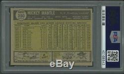 Mickey Mantle 1961 Topps #300 PSA 6 Awesome Eye Appeal Centered 50/50