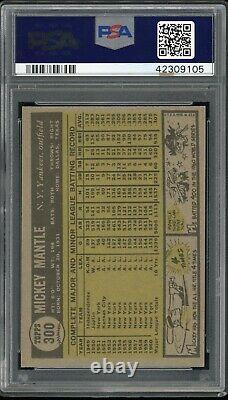 Mickey Mantle 1961 Topps Baseball Card #300 PSA 8 High-End