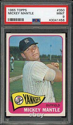 Mickey Mantle 1965 Topps Yankees Card #350 PSA 9 High-End Centered