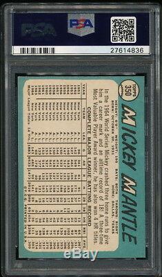Mickey Mantle 1965 Topps Yankees Card #350 Psa 8.5 Sharp
