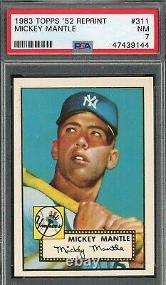 Mickey Mantle 1983 Topps 1952 Baseball Card #311 Graded PSA 7
