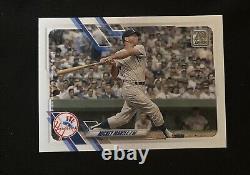 Mickey Mantle 2021 Topps Series 2 Sp #52 Ny Yankees Hof Short Print Card Rare