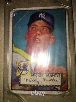 Mickey Mantle 52 Topps rookie card