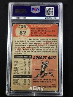 Mickey Mantle PSA 2 1953 Topps #82 Good New York Yankees HOF Graded