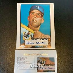Mickey Mantle Signed Autographed 1952 Topps Rookie Card 8x10 Photo JSA COA