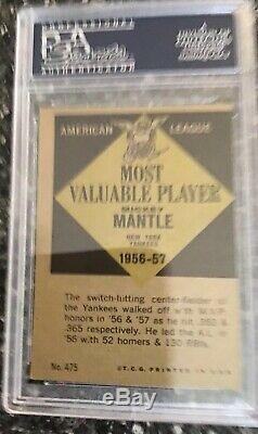 Mickey Mantle Topps Exhibit RC Lot (5) PSA Ex-Mt 1951 1961 AUTHENTIC $1,500+