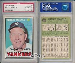 Mickey Mantle Yankees Topps Career Registry Set 1956-1968 ALL PSA 5 6 7 8
