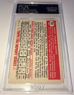 Mickey Mantle signed auto 1952 Topps PSA/DNA 1983 Archive HOF autographed
