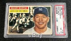 New York Yankees Mickey Mantle 1956 Topps #135 PSA 4 Vg-Ex Well Centered