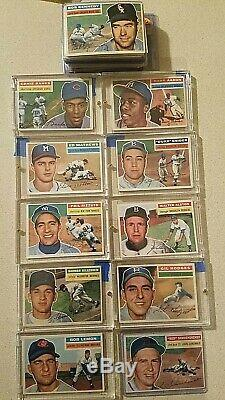 Original 1956 baseball stars, includes a very nice BVG graded MICKEY MANTLE