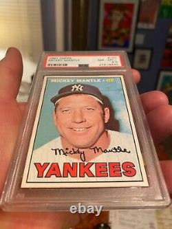Super High-end Mickey Mantle Psa 8.5 Topps 1967 Getting Tough To Find Nice