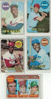 Vintage 1969 Topps Baseball Near Complete set of 637 of 664 Cards (95% complete)